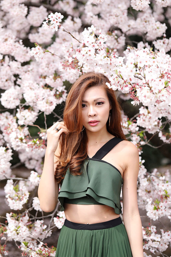 Melody Yap and flowers