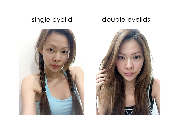 single eyelid + double eyelid