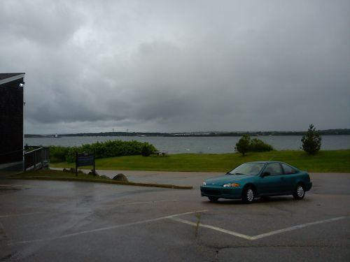 lovely, dismal, drizzly narragansett bay, in southern Rhode Island